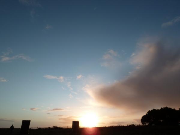 c est le matin voilà une belle journée à l horizon